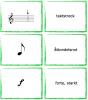 Memoryliknande spelkort med grunder i notläsning för barn.