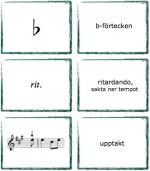"""Spelkort """"Fortsätt med notläsning"""". Musikteorispel för barn utvecklat av Kit Gunnarsson NOT o TON."""