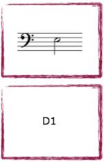 """Spelkort """"Cellofingersättningar"""". Musikteorispel för barn utvecklat av Kit Gunnarsson NOT o TON."""