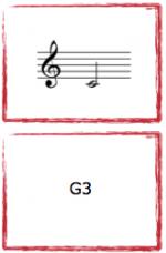 """Spelkort """"Fiolfingersättningar"""". Musikteorispel för barn utvecklat av Kit Gunnarsson NOT o TON."""